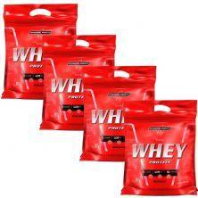 Kit 4 Nutri Whey Protein - Refil Morango 907g - Integralmédica