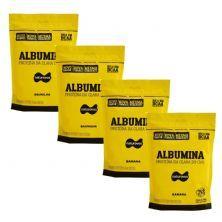 Kit 4X Albumina - 500g Refil 2 Baunilha e 2 Banana - Naturovos