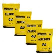 Kit 4X Albumina - 500g Refil 2 Baunilha e 2 Chocolate - Naturovos