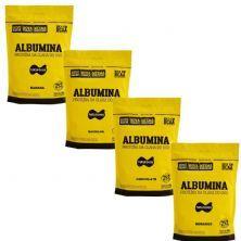 Kit 4X Albumina - 500g Refil Morango, Baunilha, Chocolate e Banana - Naturovos