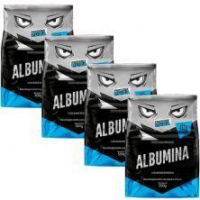 Kit 4X Albumina - 500g Sabor Natural - Proteína Pura