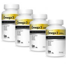 Kit 4X Ômega 3 1000mg - 120 Cápsulas - Inove Nutrition