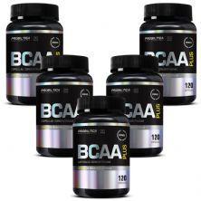 Kit 5 BCAA Plus - 120 Cápsulas - Probiótica