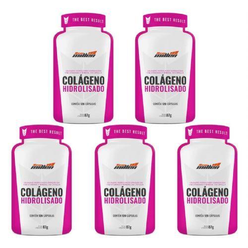 Kit 5 Colágeno Hidrolisado - 120 Cápsulas - New Millen no Atacado