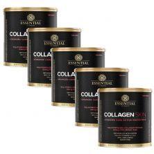 Kit 5 Collagen Skin - 300g  Cranberry - Essential Nutrition