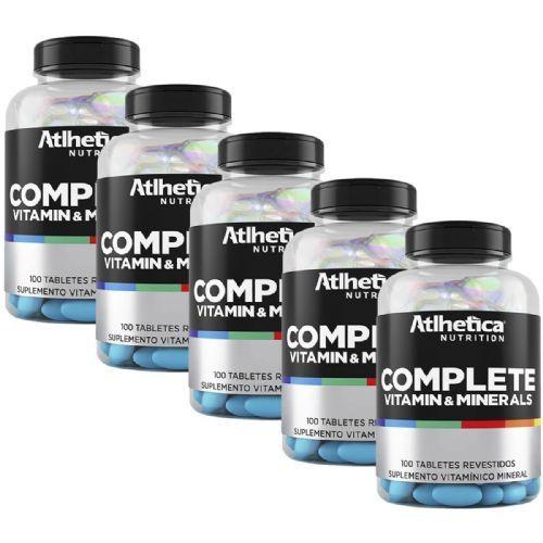 Kit 5 Complete Multi-Vit - 100 Tabletes - Atlhetica Nutrition no Atacado