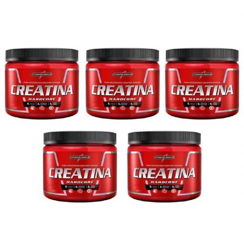Kit 5 Creatina Hardcore Reload - 150g - IntegralMédica no Atacado