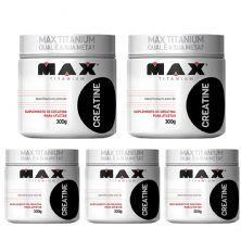 Kit 5 Creatine - 300g - Max Titanium