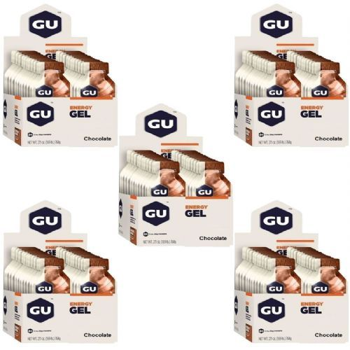 Kit 5 Energy Gel - 24 Sachês 32g Chocolate - GU no Atacado
