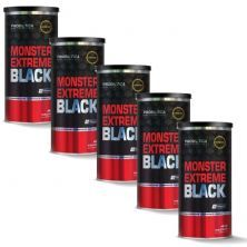 Kit 5 Monster Extreme Black New Power Formula - 44 Packs - Probiótica