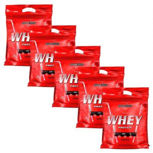 Kit 5 Nutri Whey Protein - 907g Refil Baunilha - IntegralMédica no Atacado