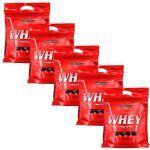 Kit 5 Nutri Whey Protein - 907g Refil Morango - IntegralMédica no Atacado
