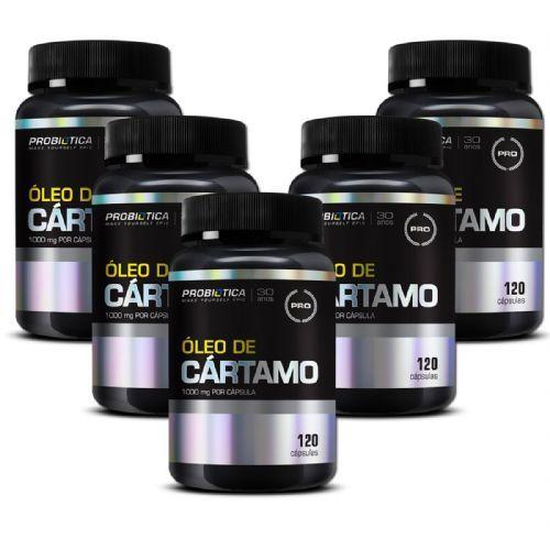 Kit 5 Óleo de Cártamo - 120 Cápsulas - Probiótica no Atacado
