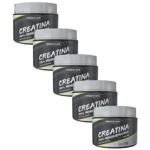 Kit 5 Predator Creatina 100% Monohidratada - 150g - Nutrata no Atacado
