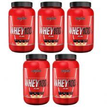 Kit 5 Super Whey 100% Pure - 907g Baunilha - IntegralMédica