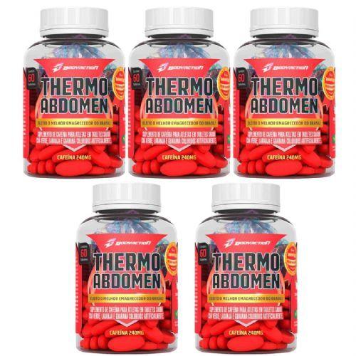 Kit 5 Thermo Abdomen - 60 Tabletes - BodyAction no Atacado