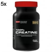 Kit 5X 100% Creatine - 100g - BodyBuilders