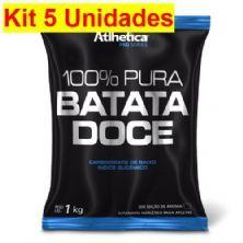 Kit 5X 100% Pura Batata Doce - 1000g Refil - Atlhetica Nutrition