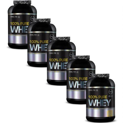 Kit 5X 100% Pure Whey - 2000g Baunilha - Probiotica no Atacado