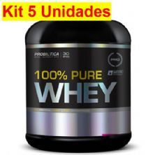 Kit 5X 100% Pure Whey - 2000g Chocolate - Probiotica