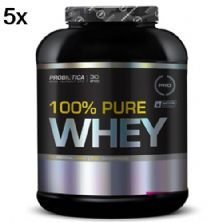 Kit 5X 100% Pure Whey - 2000g Chocolate - Probiotica