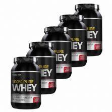 Kit 5X 100% Pure Whey - 900g Iogurte com Morango - Probiotica