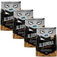 Kit 4X Albumina - 500g Cappuccino - Proteína Pura