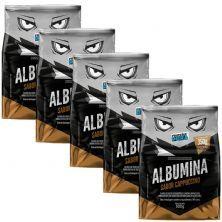 Kit 5X Albumina - 500g Cappuccino - Proteína Pura