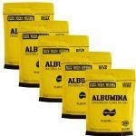 Kit 5X Albumina - 500g Refil Banana - Naturovos no Atacado