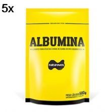 Kit 5X Albumina - 500g Refil Baunilha - Naturovos