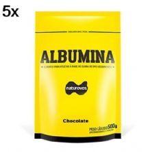 Kit 5X Albumina - 500g Refil Chocolate - Naturovos