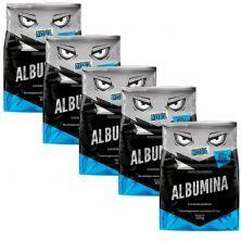 Kit 5X Albumina - 500g Sabor Natural - Proteína Pura