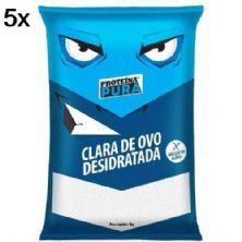 Kit 5X Albumina Proteína Pura Clara de Ovo Desidratada - 1kg Sem Sabor - Netto Alimentos