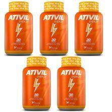 Kit 5X Ativil Energy - 30 Cápsulas - Fitoway