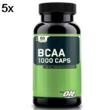 Kit 5X BCAA 1000 - 60 Cápsulas - Optimum Nutrition
