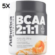 Kit 5X BCAA 2:1:1 - 210g Tangerina - Atlhetica Nutrition