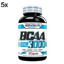 Kit 5X BCAA 3000 - 50 Cápsulas - Body Nutry