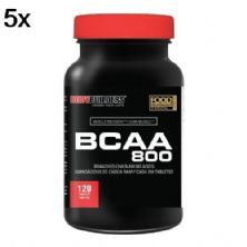 Kit 5X BCAA 800 - 120 Tablets - BodyBuilders