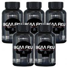 Kit 5X Bcaa FKU - 120 Tablets - Black skull