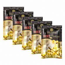 Kit 5X Beef Protein - 1 Sachê 30g Banana Com Canela - Essential Nutrition