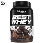 Kit 5X Best Whey - 900g Brownie Chocolate - Atlhetica Nutrition no Atacado