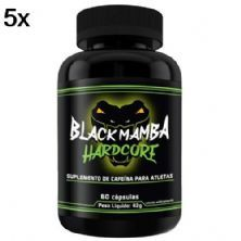 Kit 5X Black Mamba Hardcore - 60 Cápsulas - Intlab