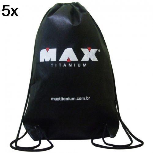 Kit 5X Bolsa Mochila TNT Preta - Max Titanium no Atacado