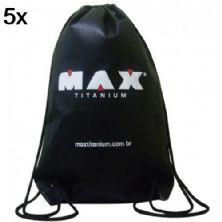 Kit 5X Bolsa Mochila TNT Preta - Max Titanium