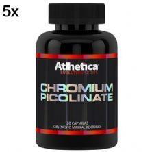 Kit 5X Chromium Picolinate - 120 Cápsulas - Atlhetica Nutrition