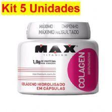 Kit 5X Colagen 500 - 100 Cápsulas - Max Titanium