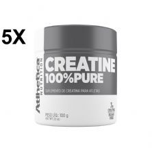 Kit 5X Creatina 100% Pure Pro Series - 100g Natural - Atlhetica Nutrition