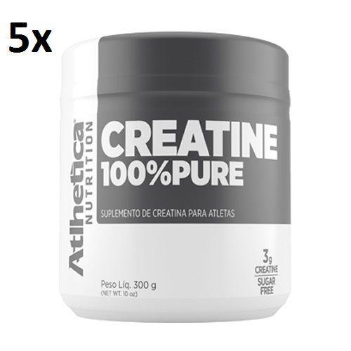 Kit 5X Creatina 100% Pure Pro Series - 300g Natural - Atlhetica Nutrition no Atacado