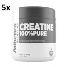 Kit 5X Creatina 100% Pure Pro Series - 300g Natural - Atlhetica Nutrition
