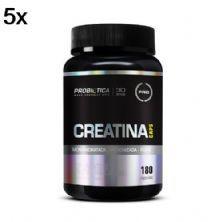 Kit 5X Creatina Monohidratada Micronizada Pura - 180 Cápsulas - Probiótica